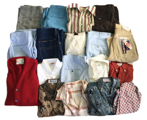 Vintage men's 1950s 60s 70s clothing lot - 27 piec