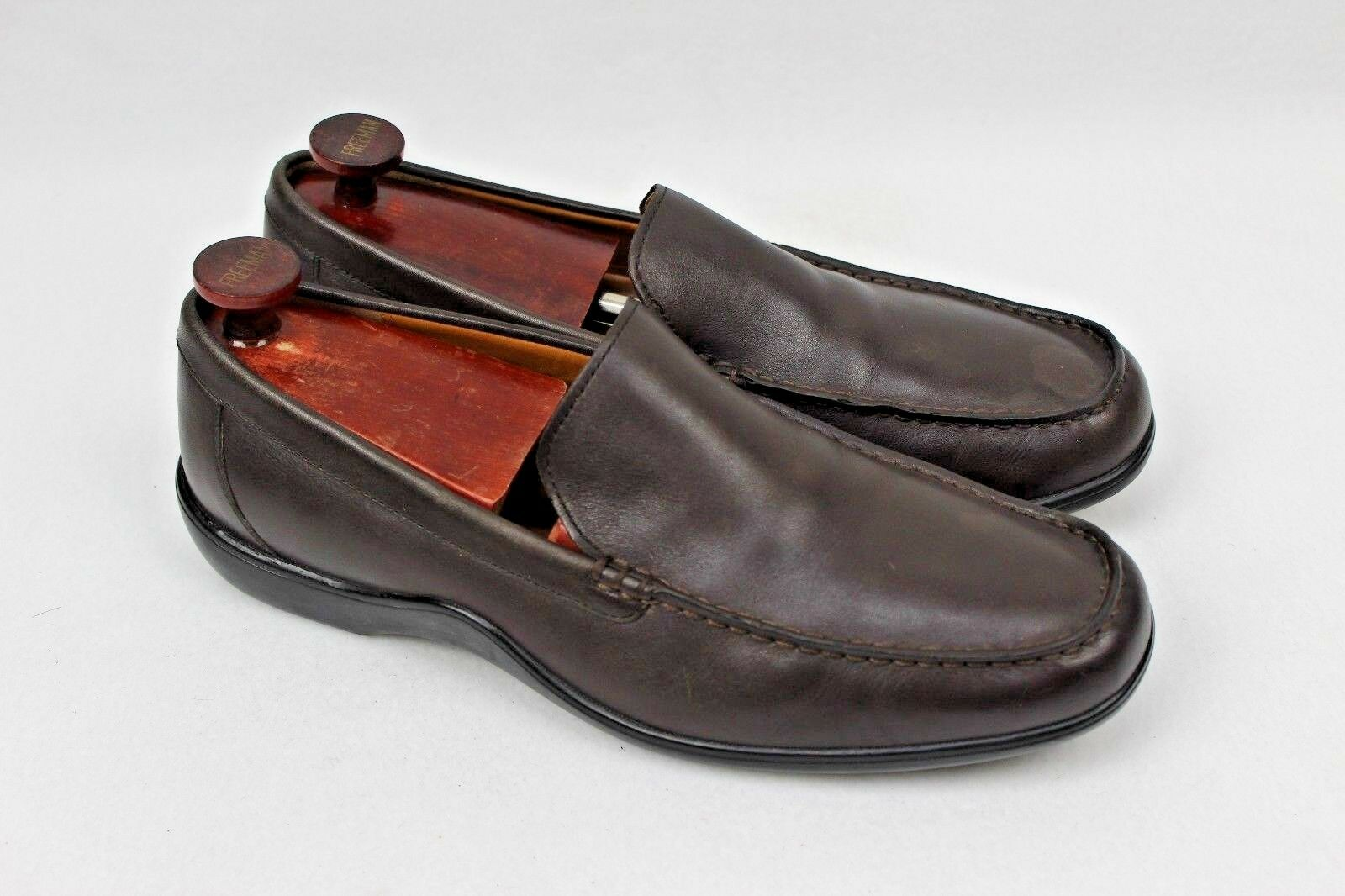 Cole Haan Men's Moc Toe Slip On Loafer Dark Brown Leather Size 11.5 M CO 7379