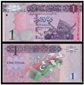 Libya-Banknote-1-Dinar-2013-UNC-1-2013-OFFER