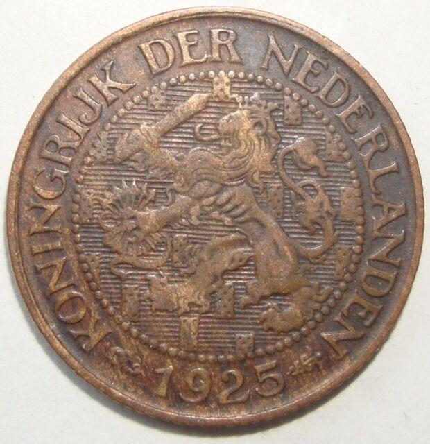 1925 NETHERLANDS 1 CENT WORLD COIN NICE!