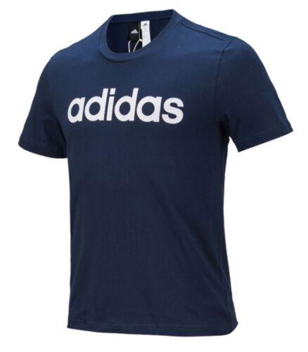 Adidas Men Linear Logo COMM Shirts Training Jersey Black White  Tee Shirt BR4066