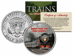 SOUTHERN-PACIFIC-4449-STEAM-Famous-Trains-Series-JFK-Half-Dollar-U-S-Coin