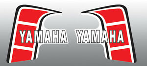 YAMAHA 1980 YZ80 FUEL GAS TANK DECALS Standard version may blister//bubble