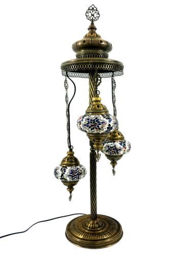 Orientalische Türkische Handgefertigte Mosaik Lampe Glas Bodenlampe 3 Lichter