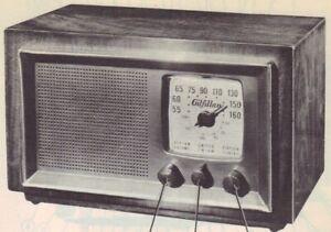 Details about 1948 GILFILLAN 68F RADIO SERVICE MANUAL SCHEMATIC photofact  AM FM TUBE REPAIR