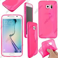 Housse Etui Coque Silicone Motif S-line Gel Souple Rose Samsung Galaxy S6 G920F