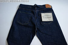 WAREHOUSE & Co Lot 700 Cinch Back High Raw Selvage Jeans Denim Jcrew $300 sz 36