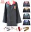 Harry potter cosplay school uniform robe tie scarf cape wand cloak costumes