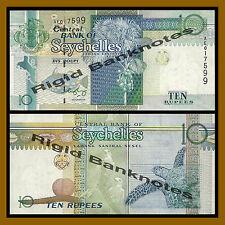 Seychelles 10 Rupees, ND 1998-2010 P-36 Sea Turtle Unc