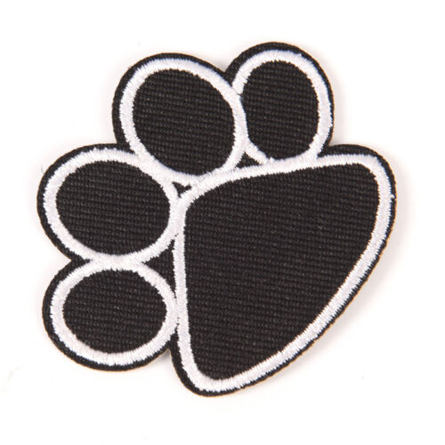 Footprint Iron On Patch Embroidered Applique Sewing Clothes Stickers Garment I2