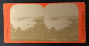 Vintage-Stereo-View-Stereoscopic-Photo-A147-French-Card-Scotland-Loch