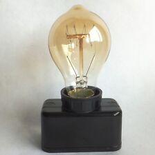 TWO Old Vintage Industrial Retro Bakelite E27 Edison Light Bulb Holder Socket