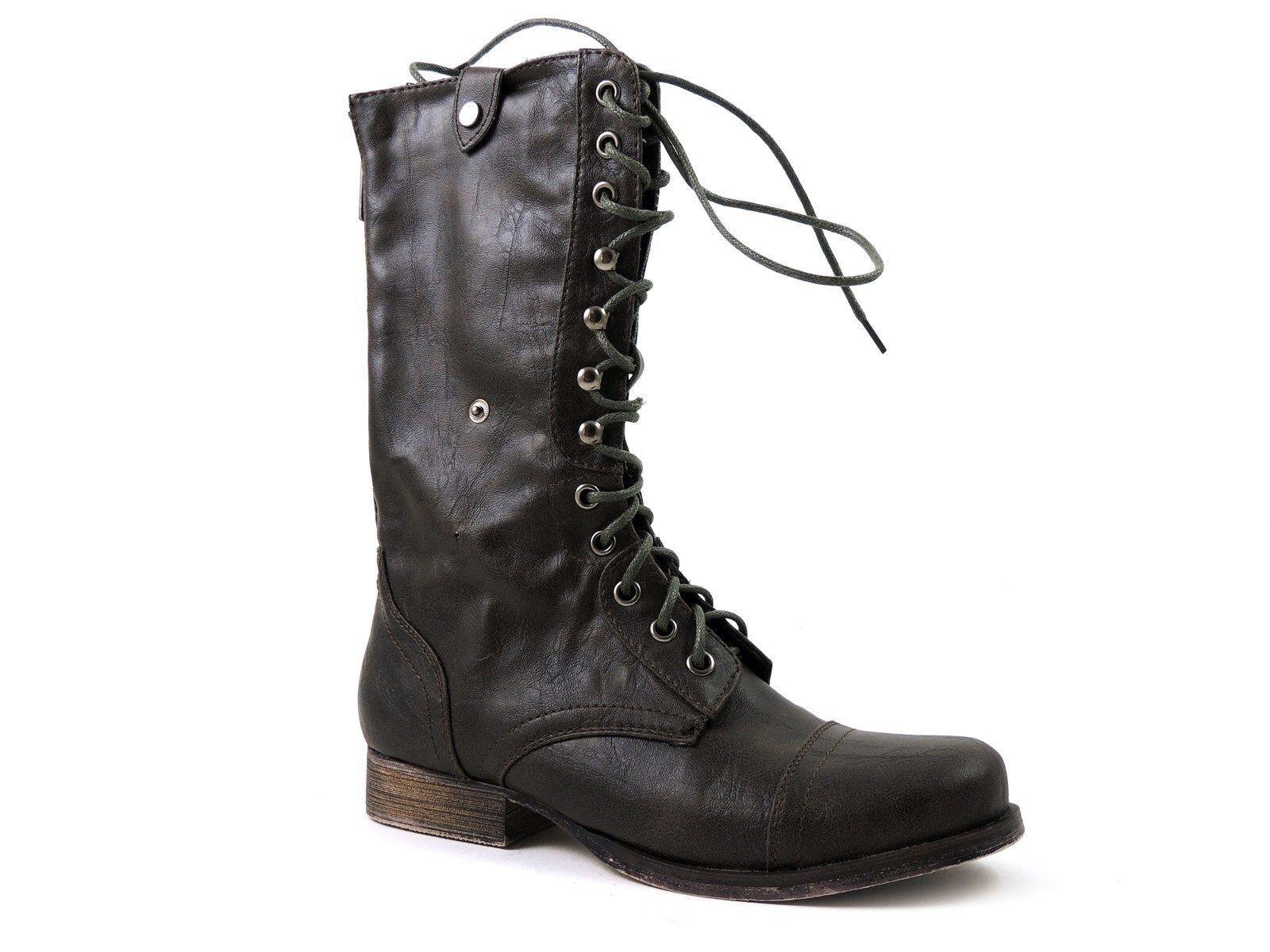 Madden Girl Women's Geirard Mid-Calf Boots Brown Paris Size 6 M