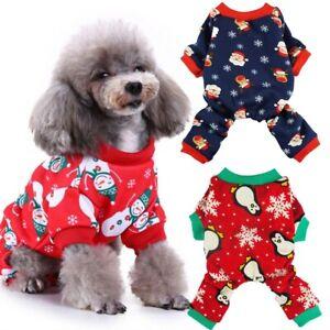Christmas-Cat-Dog-Pajamas-Soft-Cotton-Small-Pet-Clothes-Apparel-Puppy-Jumpsuit