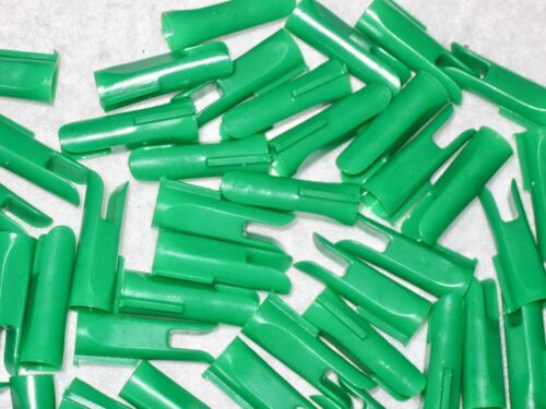 """50 ~ 17//64/"""" Green Index Speed Nocks ~ Traditional Recurve /& Longbow Wood Arrows"""