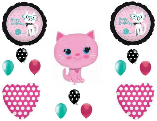 Pink KITTY CAT DIVA Purrfect Birthday Party Balloons Decoration Supplies For Sale Online