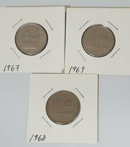 1967-1968-1969-20sen-parliament-3pcs-VF-lot-3361