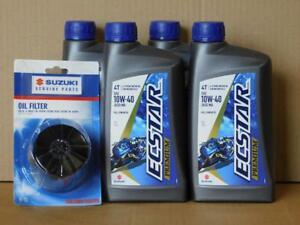 Olwechselset-Suzuki-GSXR-4-L-Ecstar-Premium-Full-Synth-10W40-Originalfilter
