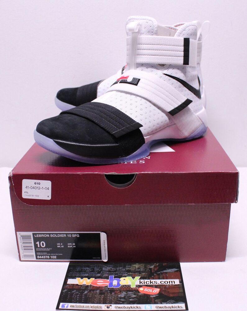 Nike Air Lebron X 10 Soldier Noir BLANC Baskets Homme pour  Chaussures de sport pour Homme hommes et femmes 34ab32