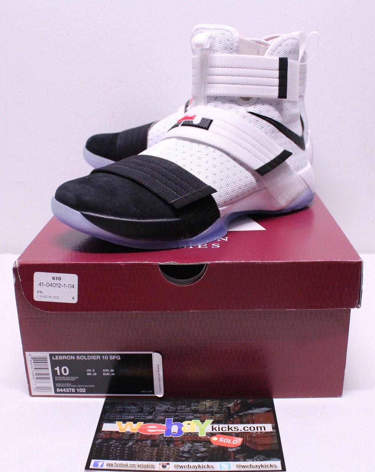 Nike Air Lebron X 10 10 X Soldier Noir blanc Baskets Hommes e1a058