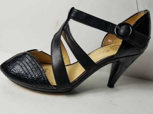 f6bfd1e1d2b Black Summer 38 Strap 5 5 Uk Leather Size Eu Shoes Heels Women Clarks 5  Sandals X8SwvPq