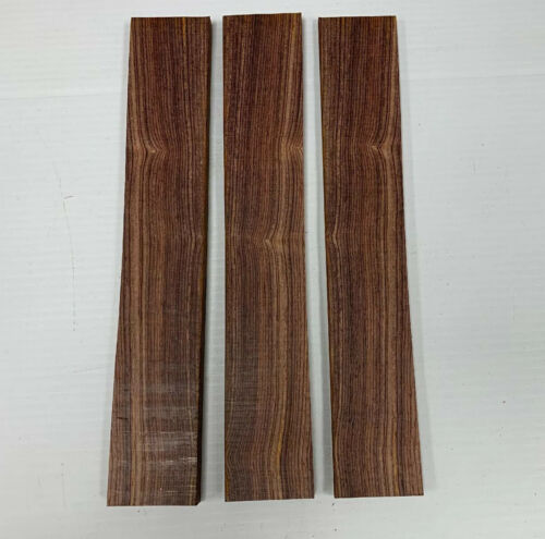 """Lot Of 3 Pieces Cocobola Thin Stock Boards Lumber Crafts Wood 1//4/"""" X 2/"""" X 12/"""""""