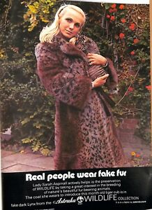 Details about Original Vintage 1970s 'Astraka' Fur Advertisement - Country  Life September 1974