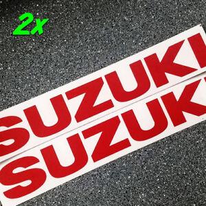 Suzuki REFLECTIVE Red 8.25in 21cm decals 1000 stickers gsxr 250 400 rm 600 750 r
