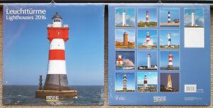 Leuchttuerme-2016-Wandkalender-Ferienterminen-Leuchtturm-Lighthouses-ovp-Korsch