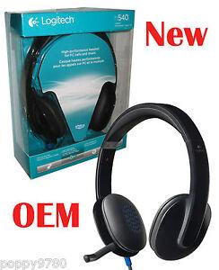logitech h540 usb casque avec micro pour pc appels et musique 981 000510 neuf ebay