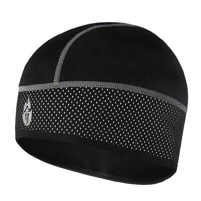 Mens Fleece Hat Cycling Skull Cap Under Helmet Winter Thermal Windstopper Wear