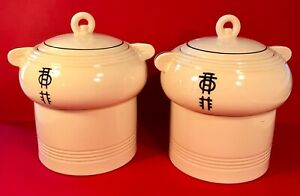 Cookware Periods & Styles Double Boilers Ca 1930s For Sale Pair Porcelier Vitreous China Art Deco 10 Cup/80 Oz