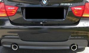 BMW-NEW-GENUINE-E90-E91-LCI-05-12-M-SPORT-REAR-DIFFUSER-WITH-DOUBLE-EXHAUST