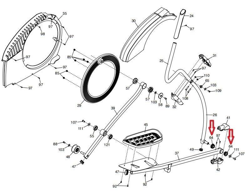 Buy Nordictrack Proform Healthrider Residential Elliptical Pedal Arm