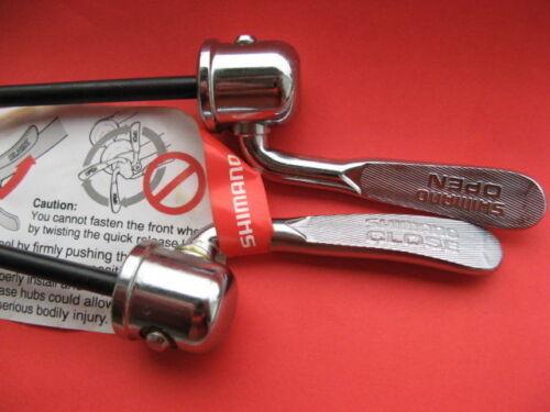 Schnellspanner Set Vintage Shimano Chrom oldschool quick release steel NOS Neu