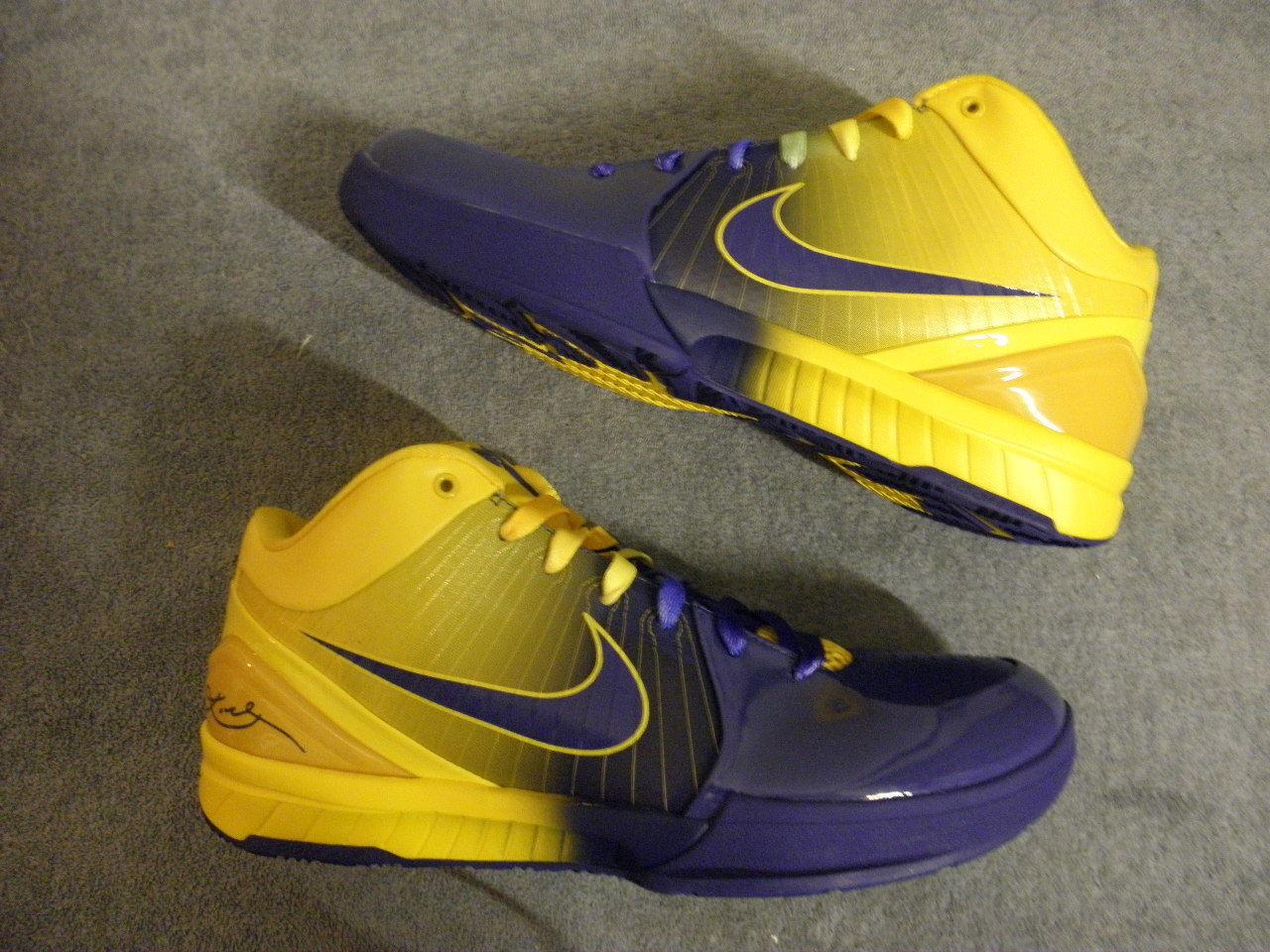 Nike Nike Nike air zoom kobe iv 4 vier ringen lakers 11 ds neue nib og original selten pe 801285