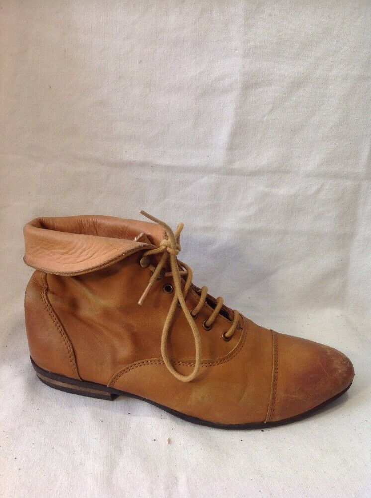 Top Shop Brown Ankle Leather Boots Size 37