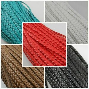 NEW 5/50m Leather Braid Rope Hemp Jewelry Cord For Necklace Bracelet 5mm Making