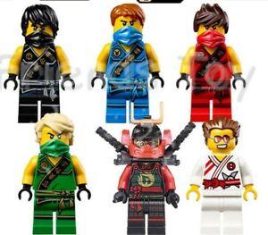Ninjago-Spielzeug-Jungen-Ninja-Mini-Figuren-X-6-Kai-Cole-Lloyd-NYA-Jay-Griffin-Fit-Lego
