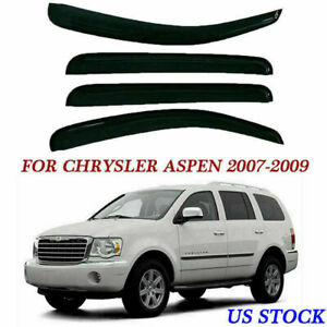 4x-For-Chrysler-Aspen-07-09-Side-Window-Visors-Rain-Wind-Guards-Deflectors-Smoke