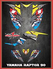 Yamaha Raptor 90 SEMI CUSTOM GRAPHICS FREE CUSTOMIZATION KIT LIGHTNING4
