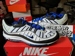 d01abf8313221d Nike Air Max 98 2018 Sprite White Racer Blue Black Volt Men Running ...