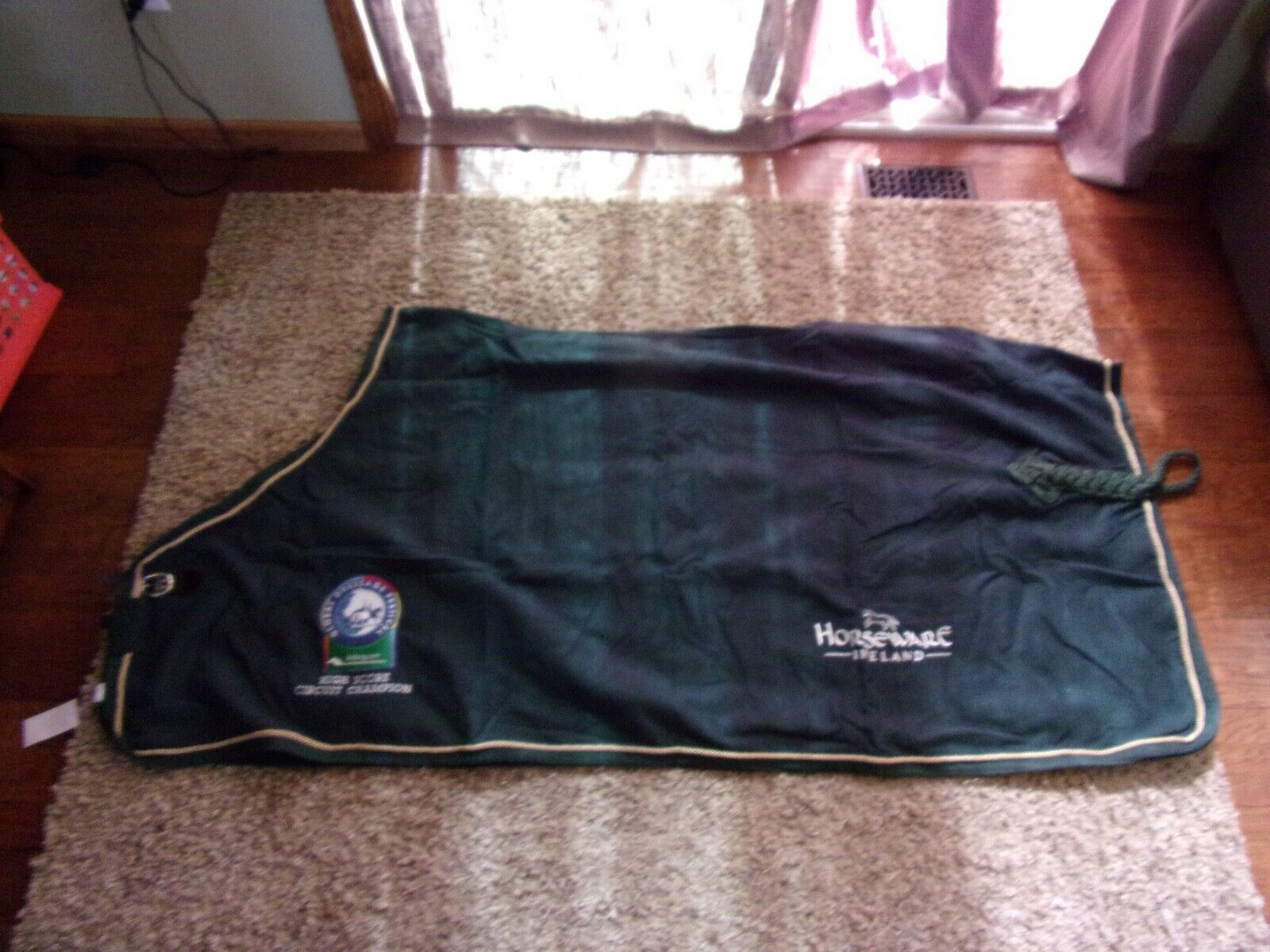 NWT 80 cavalloWARE EMBROIDErosso HUNTER verde WOOL SHEET COOLER
