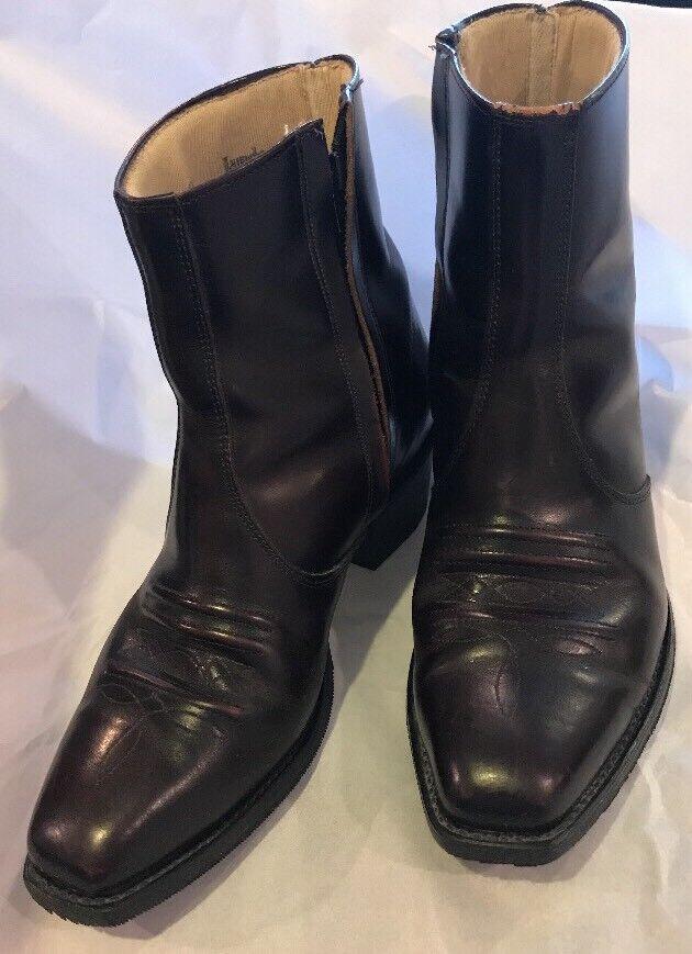 Laredo Long Haul Zipper Western Boot - Round Toe - 50968 Antique Brown VIBRAM