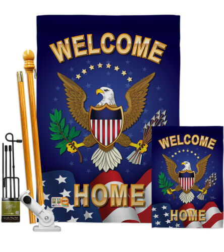 Welcome Home Military Proud Soldier Honor Thank you Veteran House Yard Banner