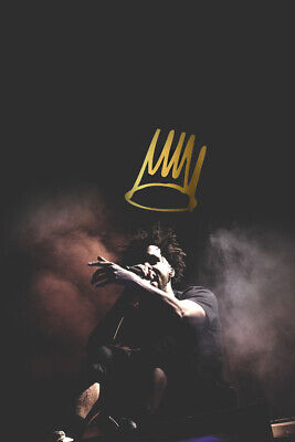 Details about  /J Cole Friday Night Lights 30 24x24 Art Rapper Cover Fabric Poster E167