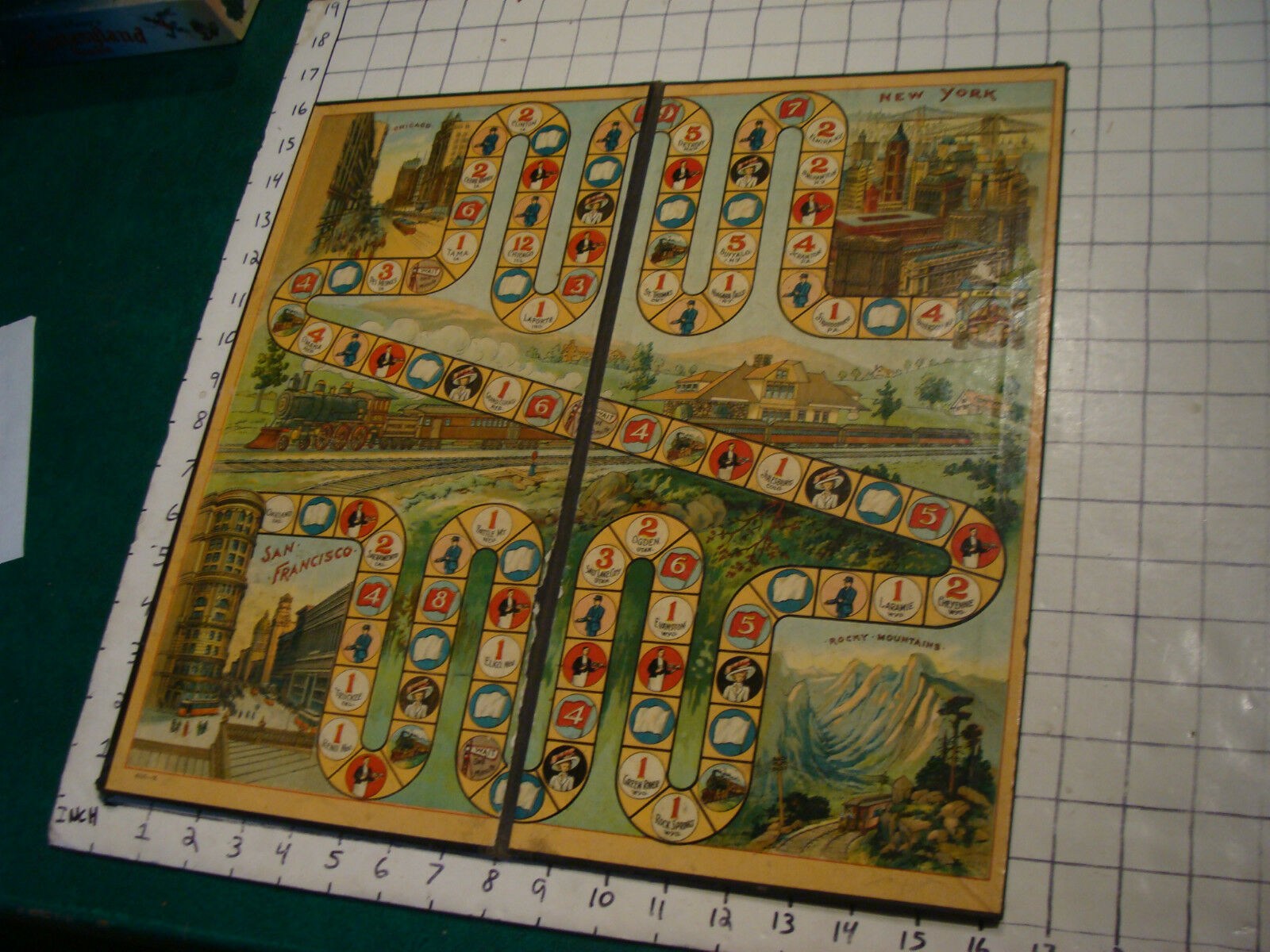 Early  McLoughlin PHOEBE SNOW gioco tavola only, late 1800's or early 1900's  costo effettivo