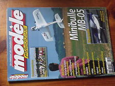 $$w Revue modele magazine n°624 Plan encarte Minibulle MB-05  Electro-7  Gee Bee