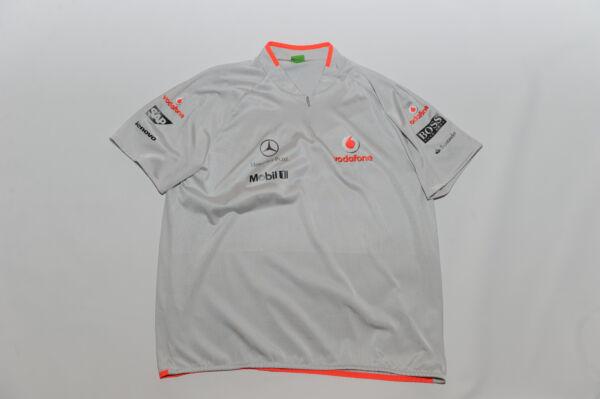 6f2239373 Hugo Boss McLaren Mercedes Zip Shirt Silver ESC-MC-Teemap Mens Size XXL