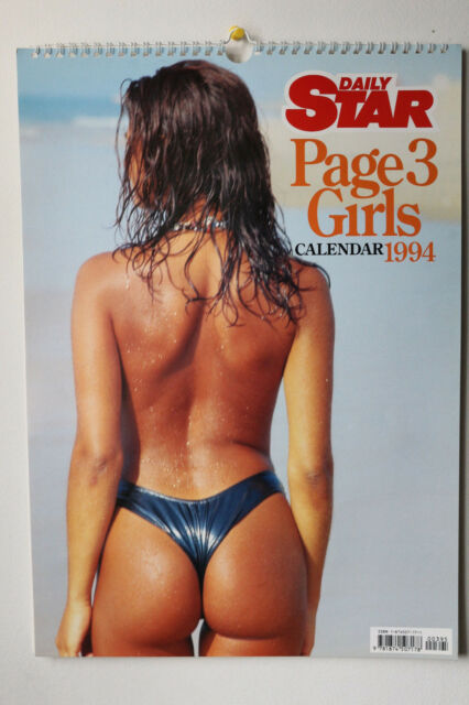 The Daily Star Page 3 1984 Glamour Girls Calendar, Vintage (MIP, HTF)